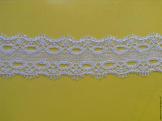 Аппликации, вставки, отделка ручной работы. Ярмарка Мастеров - ручная работа. Купить Кружево белое 27 мм. Handmade. Белый