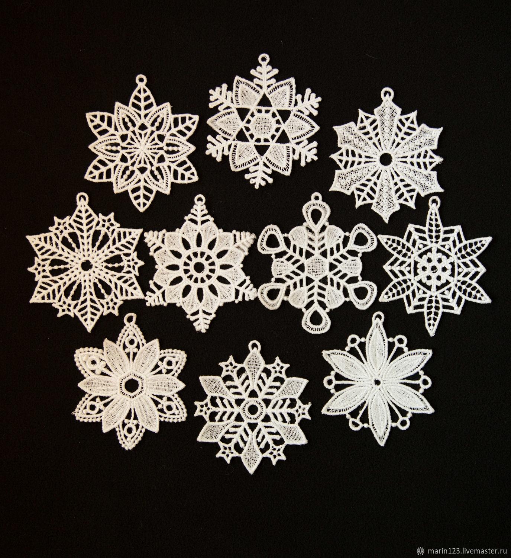 Set of snowflakes on the Christmas tree Snowstorm 10 PCs, Decoration, Samara,  Фото №1
