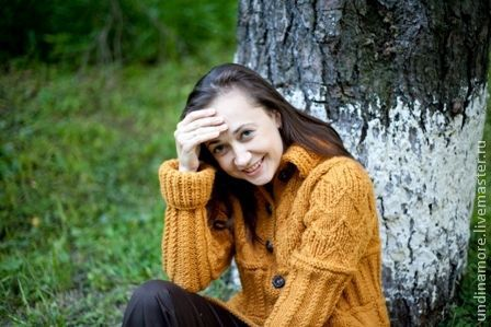 """Верхняя одежда ручной работы. Ярмарка Мастеров - ручная работа. Купить Пальто """"Осенний блюз"""". Handmade. Оранжевый, верхняя одежда"""