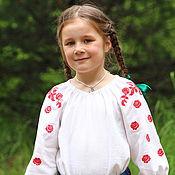 """Одежда ручной работы. Ярмарка Мастеров - ручная работа Блузка """"Елань"""" с красными розами. Handmade."""
