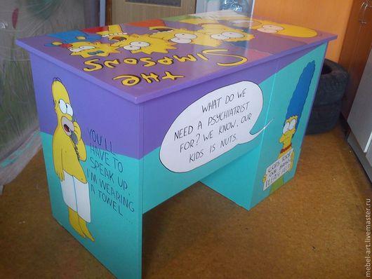 """Мебель ручной работы. Ярмарка Мастеров - ручная работа. Купить Письменный стол """"the Simpsons"""". Handmade. Стол письменный"""