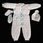 Работы для детей, ручной работы. Ярмарка Мастеров - ручная работа Комплект для новорожденных Нежный. Handmade.