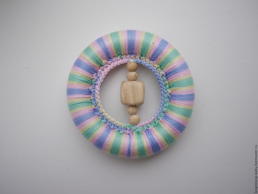 Развивающие игрушки ручной работы. Ярмарка Мастеров - ручная работа. Купить Прорезыватель, грызунок. Handmade. Комбинированный, грызунок из бука