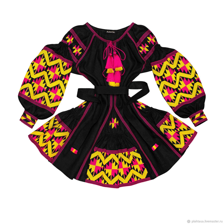 """Короткое платье с клиньями """"Тропическое Солнце"""", Dresses, Kiev,  Фото №1"""