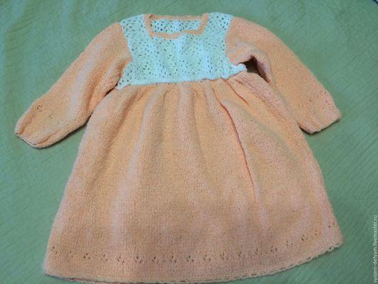 Одежда для девочек, ручной работы. Ярмарка Мастеров - ручная работа. Купить Нарядное платье с белым орнаментом и зелёный сарафан с косами. Handmade.