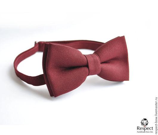 Галстуки, бабочки ручной работы. Ярмарка Мастеров - ручная работа. Купить Бордовая галстук бабочка Марсала / бабочка-галстук бордовая свадьба. Handmade.