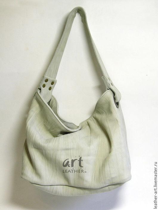 Женские сумки ручной работы. Ярмарка Мастеров - ручная работа. Купить Кожаная сумка-мешок Летний дождь. Handmade.