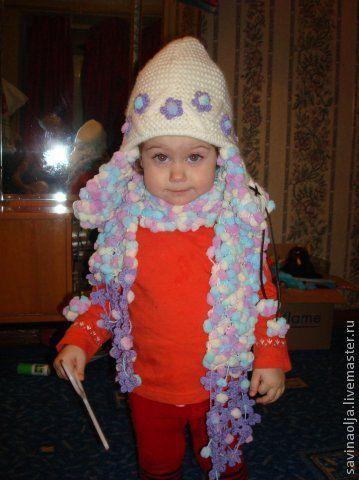 Детские аксессуары ручной работы. Ярмарка Мастеров - ручная работа. Купить Комплект шапка и шарф. Handmade. Шапка, комплект для девочки