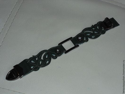 Браслеты ручной работы. Ярмарка Мастеров - ручная работа. Купить женский браслет. Handmade. Тёмно-зелёный, женский браслет