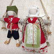 Кукла-оберег Неразлучники (красный, зеленый)
