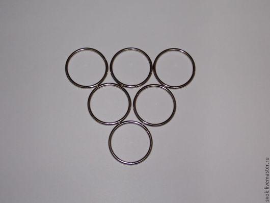 Шитье ручной работы. Ярмарка Мастеров - ручная работа. Купить Кольцо металлическое, 30 мм, цвет никель, фурнитура для сумок. Handmade.