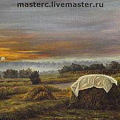 Картины и панно ручной работы. Ярмарка Мастеров - ручная работа стог сена. Handmade.
