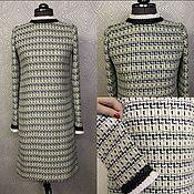 Одежда ручной работы. Ярмарка Мастеров - ручная работа Платье из шерстяного букле Chanel. Handmade.