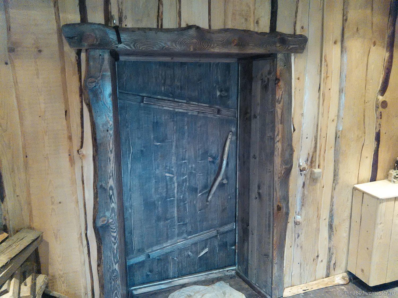 Дверь из натурального дерева в стиле рустик, шале, кантри, Двери, Москва,  Фото №1
