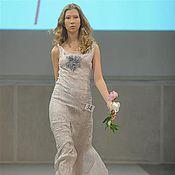 Платья ручной работы. Ярмарка Мастеров - ручная работа перламутровое платье с розами. Handmade.