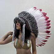 Одежда ручной работы. Ярмарка Мастеров - ручная работа Индейский головной убор - Волчья Кровь. Handmade.