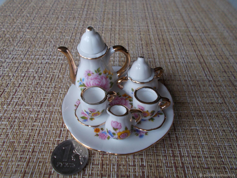 Посуда для кукол, масштаб примерно 1:6, фарфоровый сервиз, Китай, Миниатюрные игрушки, Псков, Фото №1