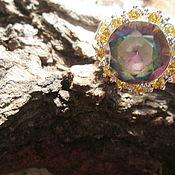 Украшения ручной работы. Ярмарка Мастеров - ручная работа кольцо 19 Радужное солнце мистик топаз. Handmade.