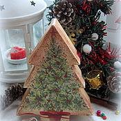 Подарки к праздникам ручной работы. Ярмарка Мастеров - ручная работа Коробка-елка для подарков. Handmade.