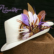 Украшения handmade. Livemaster - original item Purple hairpin-brooch of feathers with ammonium. Handmade.