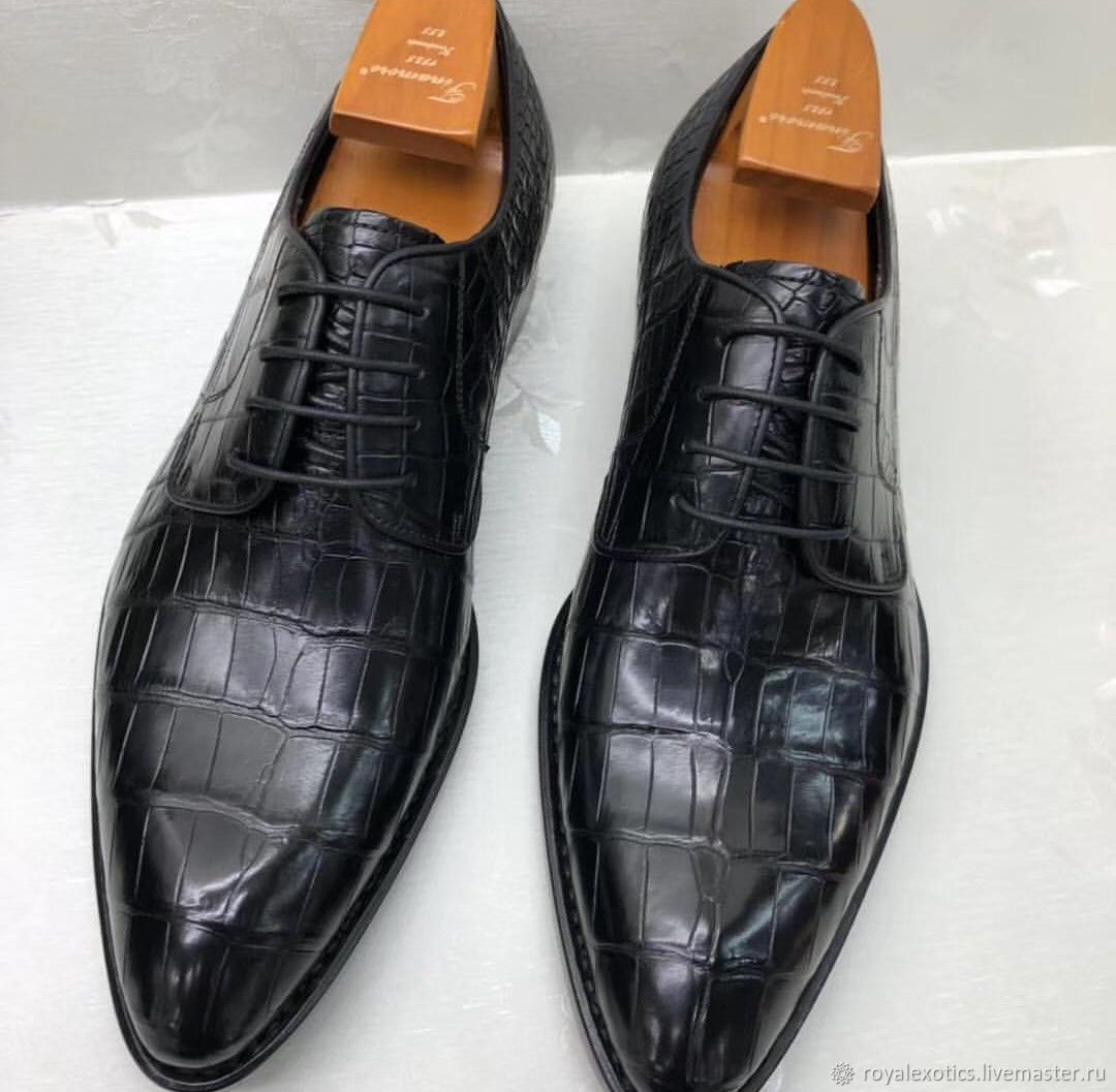 Shoes men's, classic, from the belly of a crocodile, Shoes, Tosno,  Фото №1