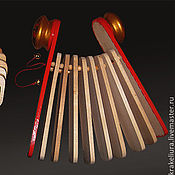 Музыкальные инструменты ручной работы. Ярмарка Мастеров - ручная работа Трещотка веерная. Handmade.