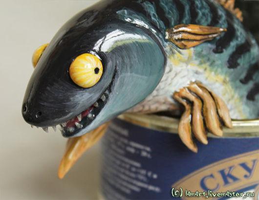 """Куклы и игрушки ручной работы. Ярмарка Мастеров - ручная работа. Купить Мистический триллер """"Скумбрия"""". Handmade. Рыба, еда"""