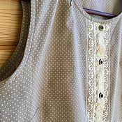 Одежда handmade. Livemaster - original item Cotton blouse