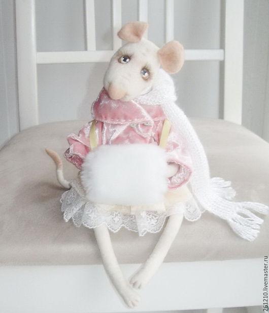 Игрушки животные, ручной работы. Ярмарка Мастеров - ручная работа. Купить Мышка Мишель, войлочная игрушка, игрушка в подарок.. Handmade.