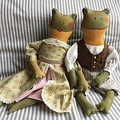 Куклы и игрушки ручной работы. Ярмарка Мастеров - ручная работа Пара Лягушек. Handmade.