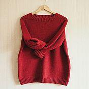 """Одежда ручной работы. Ярмарка Мастеров - ручная работа Вязаный свитер ручной работы """"Рябиновый"""". Handmade."""