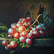 """Картины и панно ручной работы. Ярмарка Мастеров - ручная работа Картина маслом """"Кисть винограда"""". Handmade."""
