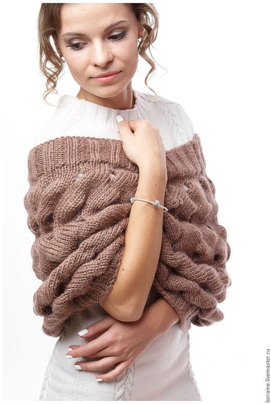 разноцветный, однотонный, снуд вязаный, вязаный снуд, снуд спицами, снуд крючком, ручная работа, шарф, шарф вязаный, шарф с косой, шарф женский, снуд женский, снуд зимний, шарф-снуд, нарядный шарф