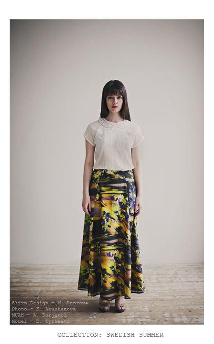 Юбки ручной работы. Ярмарка Мастеров - ручная работа. Купить эко-юбка гармония с природой из натурального хлопка с шелком. Handmade.