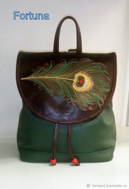 Backpack leather ' feather of the Firebird', Backpacks, St. Petersburg,  Фото №1
