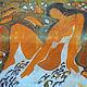 Люди, ручной работы. Ярмарка Мастеров - ручная работа. Купить Картина Купальщица выполненная на хб ткани в технике горячего батика. Handmade.
