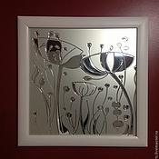 """Картины и панно ручной работы. Ярмарка Мастеров - ручная работа Картины на стекле """"Дивный сад"""". Handmade."""