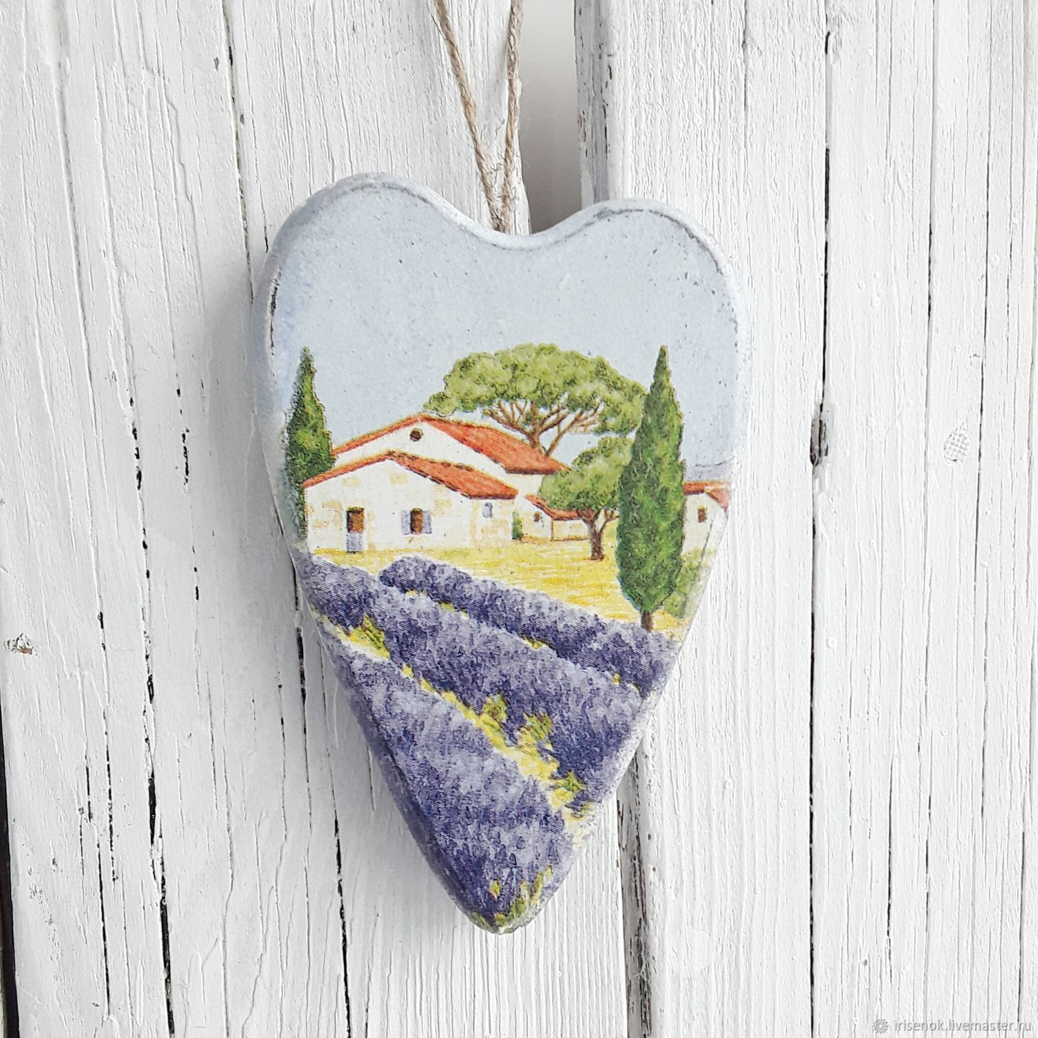 Wooden heart in the style of Provence, Gifts for February 14, Novosibirsk,  Фото №1