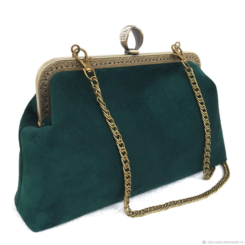 2e94b99b0a75 Женские сумки ручной работы. Ярмарка Мастеров - ручная работа. Купить  Замшевая вечерняя сумочка- ...