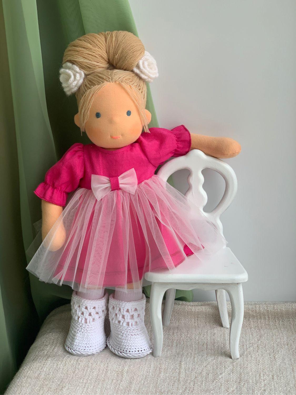 Розочка - вальдорфская куколка, Вальдорфские куклы и звери, Самара,  Фото №1