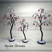 Цветы и флористика ручной работы. Ярмарка Мастеров - ручная работа Зимние рябины. Handmade.