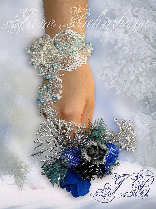 Браслеты ручной работы. Ярмарка Мастеров - ручная работа. Купить Браслет Заморозки. Handmade. Браслет, жемчуг, цветок, роза, цветы