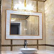 """Для дома и интерьера ручной работы. Ярмарка Мастеров - ручная работа Рама с зеркалом """"Молочные реки"""". Handmade."""
