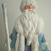 Куклы и игрушки ручной работы. Ярмарка Мастеров - ручная работа Дед Мороз большой. Ватная игрушка.. Handmade.