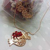 Украшения handmade. Livemaster - original item Kit. pendant and earrings Grenades. Handmade.