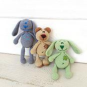 Куклы и игрушки ручной работы. Ярмарка Мастеров - ручная работа Вязаные игрушки погремушки. Handmade.