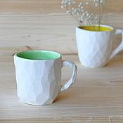 """Посуда ручной работы. Ярмарка Мастеров - ручная работа Кружка """"Майская зелень"""". Handmade."""