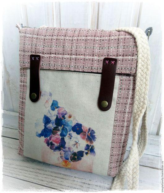 """Женские сумки ручной работы. Ярмарка Мастеров - ручная работа. Купить текстильная  сумка """"цветочная почта"""". Handmade. Эко сумка"""
