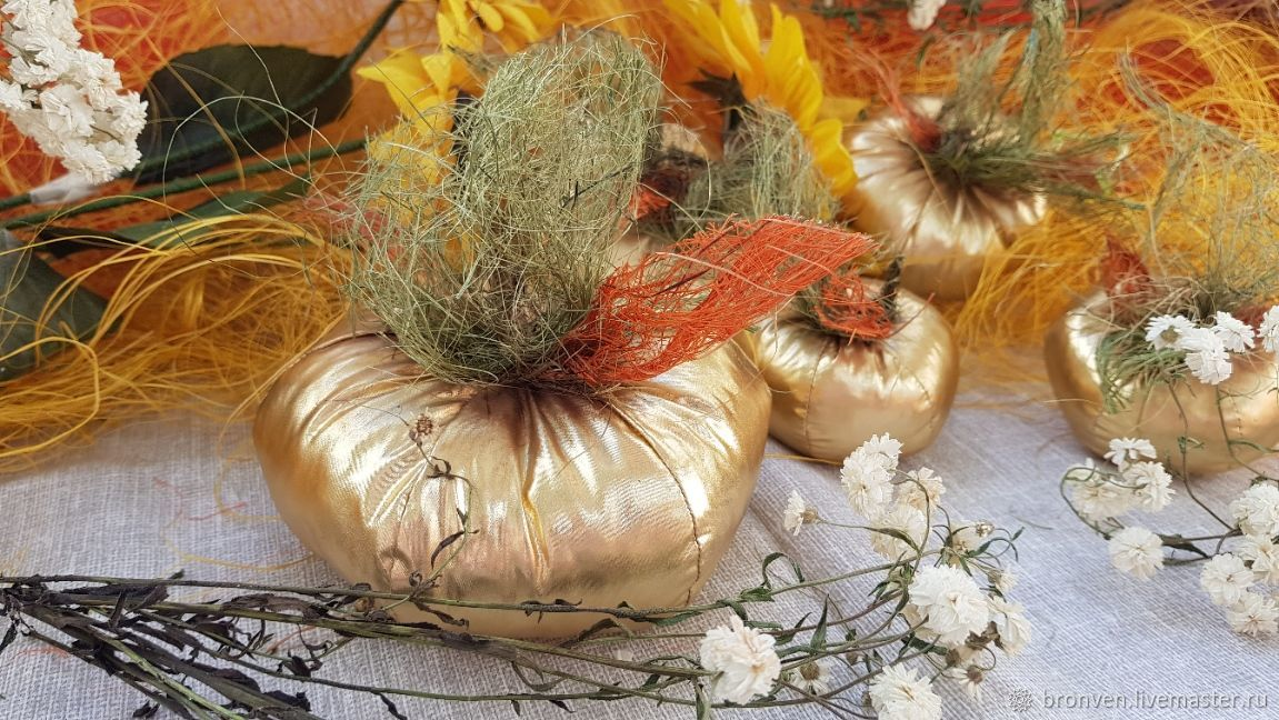 Set of decorative pumpkins for decoration of interior areas for the decorator, Interior elements, Moscow,  Фото №1