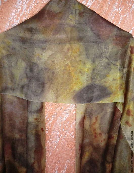 Шарфы и шарфики ручной работы. Ярмарка Мастеров - ручная работа. Купить Шелковый шарф Лесная нимфа, эко принт. Handmade.